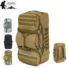 HIGHSEE 60L Outdoor Camping Large Capacity Sport Backpacks Shoulder Bag Hiking Tactical Backpack Waterproof Travel Athletic Pack