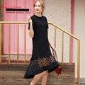 Quintina Новая Мода Женщины Dress O-образным Вырезом До Колен Леди Dress Vestidos-Line Лето Женщины Повседневная Dress