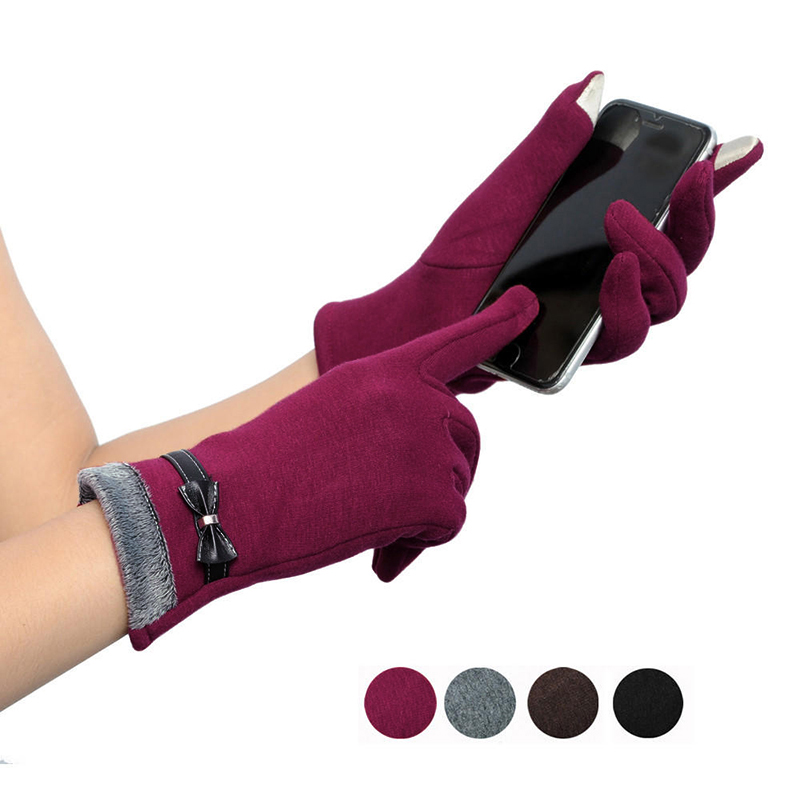 NAIVEROO Waterproof and Warm Touch Screen Gloves made of PU Leather and Conductive Fibers for Women Suitable for Spring and Winter 28