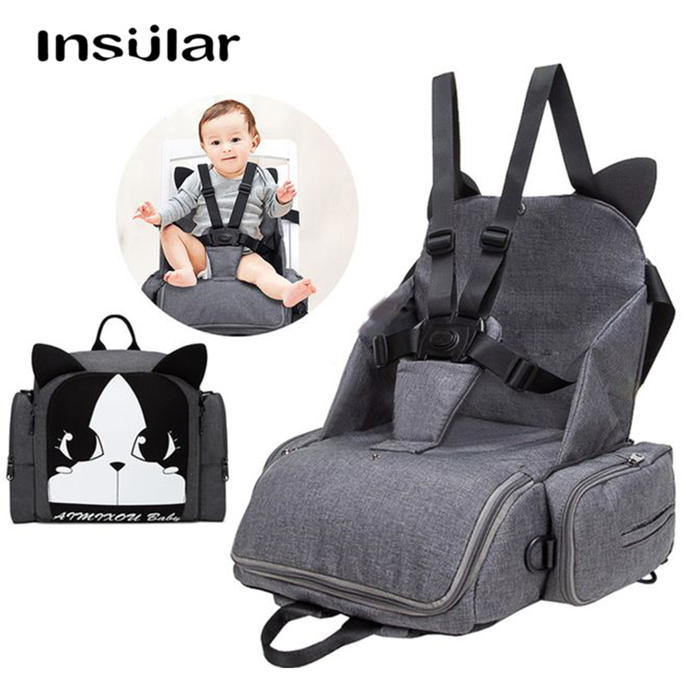 Enfant en bas âge dinant des sièges d'appoint de voyage sièges de sécurité de voiture d'enfant multi-fonction couche-culotte sac à dos épaule maternité dinant le sac de chaise