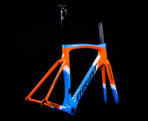 Image 3 - THRUST Carbon Road Frame 46 49 52 54 56 58cm Carbon Frame Road PF30 Carbon Bike Frame Road Bicycles Red 8 Color Bicycle parts