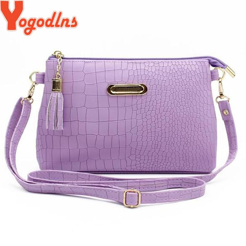 Yogodlns PU Leather Women Clutch Bag Vintage Solid Color Shoulder Bags Evening Party Messenger Bags Mini Tassel Makeup Bag