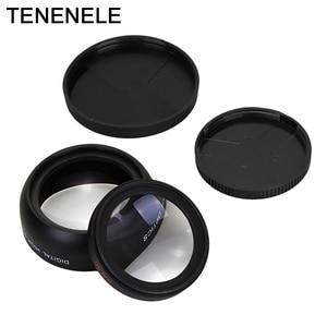 Image 3 - Объектив для камеры 0,45x37 43 46 49 52 мм, широкоугольный объектив с макрообъективом HD, оптические линзы для Canon, Nikon, Sony, Fuji, аксессуары для объектива камеры