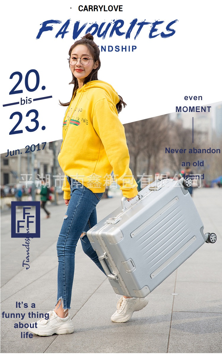 CARRYLOVE business luggage series 20/24/26/29 inch size Aluminum frame PC Rolling Luggage Spinner brand Travel Suitcase 20 25 29 aluminum magnesium alloy metal luggage fashion spinner rolling suitcase business aluminum frame luggage