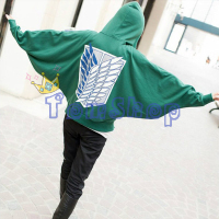 Attack on Titan Cosplay Costume Shingeki no kyojin Scouting Legion Batwing Sleeves Baggy Hoodie Coat Anime Sweatshirts