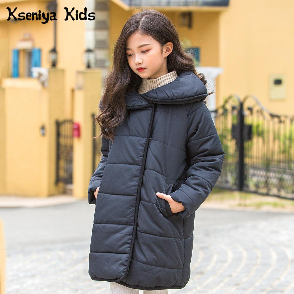 Kseniya Kids 2018 Autumn And Winter New Children's Long Cotton Clothes Down Jacket For Girl Winter Coat Girl autumn and winter coat for women a new autumn winter coat for women