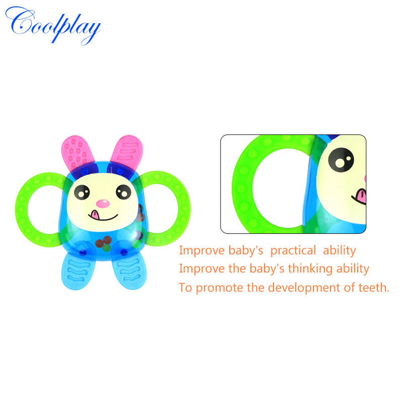 Coolplay CP1353-2 3pcs/Lot baby bottle rattles/baby toys 0-1year old newborn teethers baby hand rattles