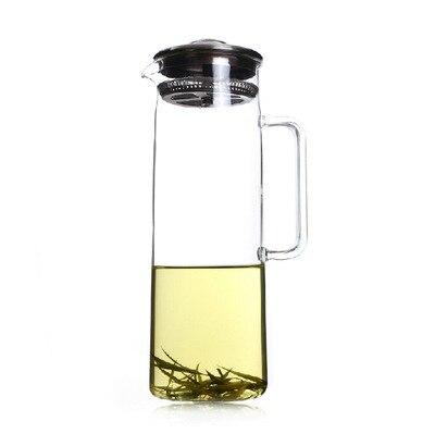 La production de pot de thé en gros résistant à la chaleur en verre cruche d'eau froide en verre pot bouilloire pot 1500 ml