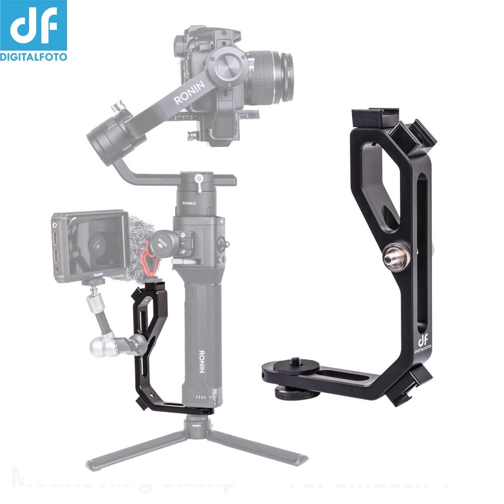 Gimbal Handle accessories arm L bracket monitor mount plate For zhiyun Crane 2 DJI Ronin S MOZA FEIYU AK2000/AK4000 Gimbal цена