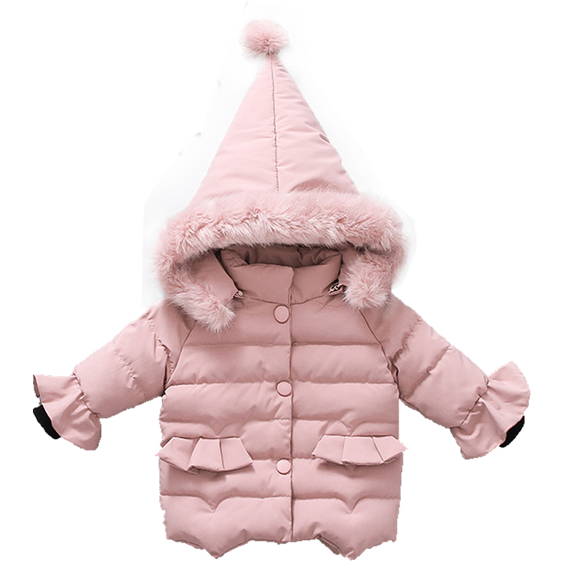 New Baby girls Coat 2018 Autumn Winter Jackets For Children warm Outerwear Hooded kids Coats for 1-2-3-4-5 years clothing стоимость
