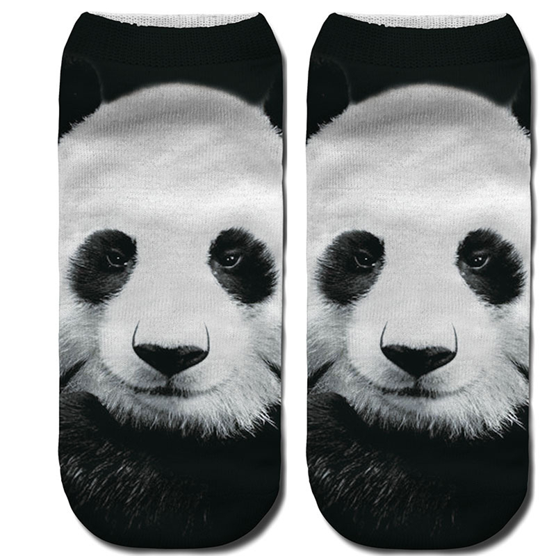 Bescheiden Jeseca 3d Digitaldruck Weibliche Socken Erwachsene Panda Lion Tiger Tier Serie Lässige Mode Socken Polyester Frühling Herbst Socken