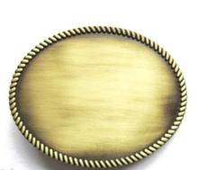 Low price Oval Belt Buckle big discount Bronze wholesale Blank cheap