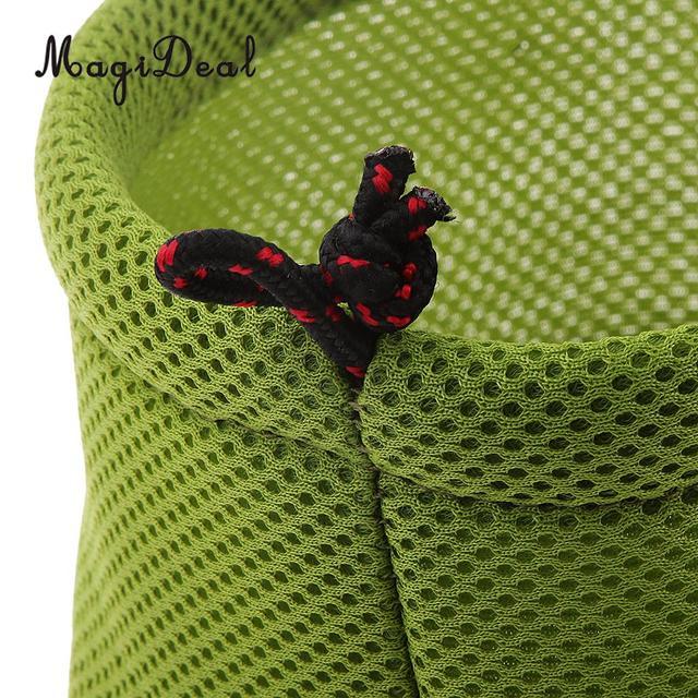 Neue Durable Verdicken 3D Mesh Tuch Lagerung Tasche für Outdoor Camping Topf Set Schüsseln Kleine Camping Picknick BBQ Kochen Liefert