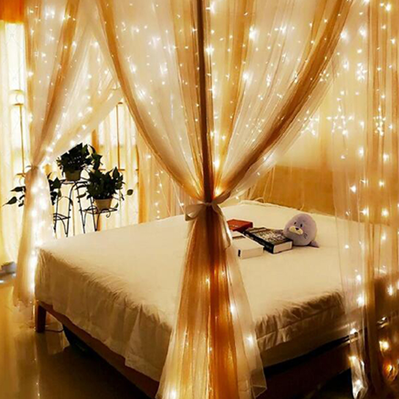 Garland Christmas Lights Home Outdoor Holiday Christmas Decorative Wedding xmas String Fairy Curtain Garlands Strip Party Lights