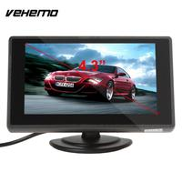 4 3 Inch Car Monitors Car Vehicles LCD Display Rearview Cameras Reversing Monitor Panel Colorful 480x272