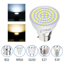 E27 LED Lamba GU10 Spot Ampul E14 Lampada 48 60 80 leds lampara GU 10 Bombillas Led 220 V MR16 gu5.3 Spot Işık B22 3 W 5 W 7 W