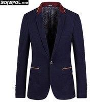 Brands BONSPOL Man Suit New Version Of Korean Male Suit Jacket Casual Suit Male Slim Type