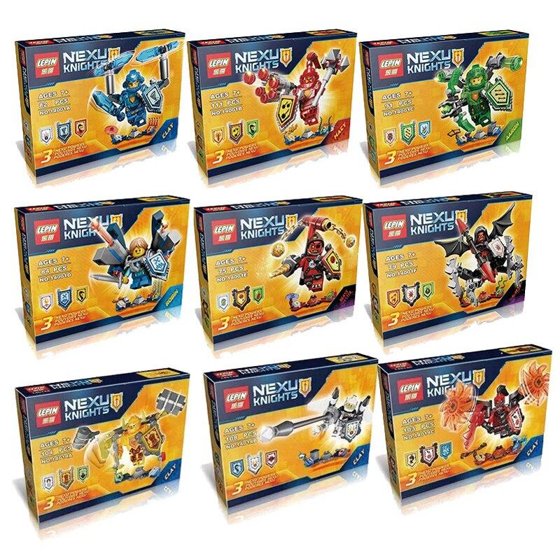 Lepin Ultimate Clay Aaron Robin Macy Beast Nexo Knights figures Building Blocks DIY Bricks Toys Without