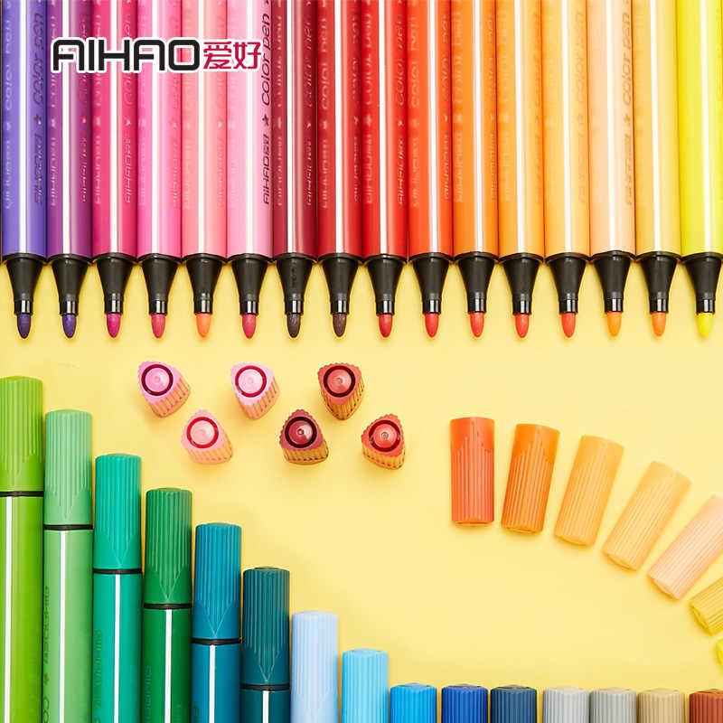 اللون أقلام تلوين القلم مجموعة رسم الألوان الأطفال اللوحة المائية أقلام آمنة غير سامة المياه غسل الكتابة على الجدران الهدايا القرطاسية