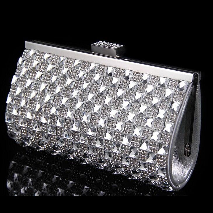 Cristal de las mujeres bolsos de embrague bolsos de noche nupcial de la boda de