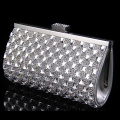 Crystal women clutch evening bags acrylic vintage wedding bridal handbags silver gold shoulder bags with chains