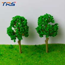 Teraysun  Architectural model making 4.6CM Trees Model for Railroad Layout Landscape Scenery Diorama Miniatures
