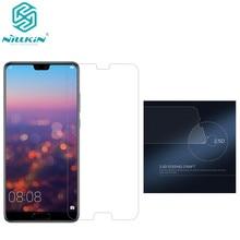 Huawei P20 פרו Nillkin H + Pro 2.5 D קצה עגול 0.2mm מזג זכוכית מגן מסך משלוח חינם huawei p20 זכוכית pro סרט