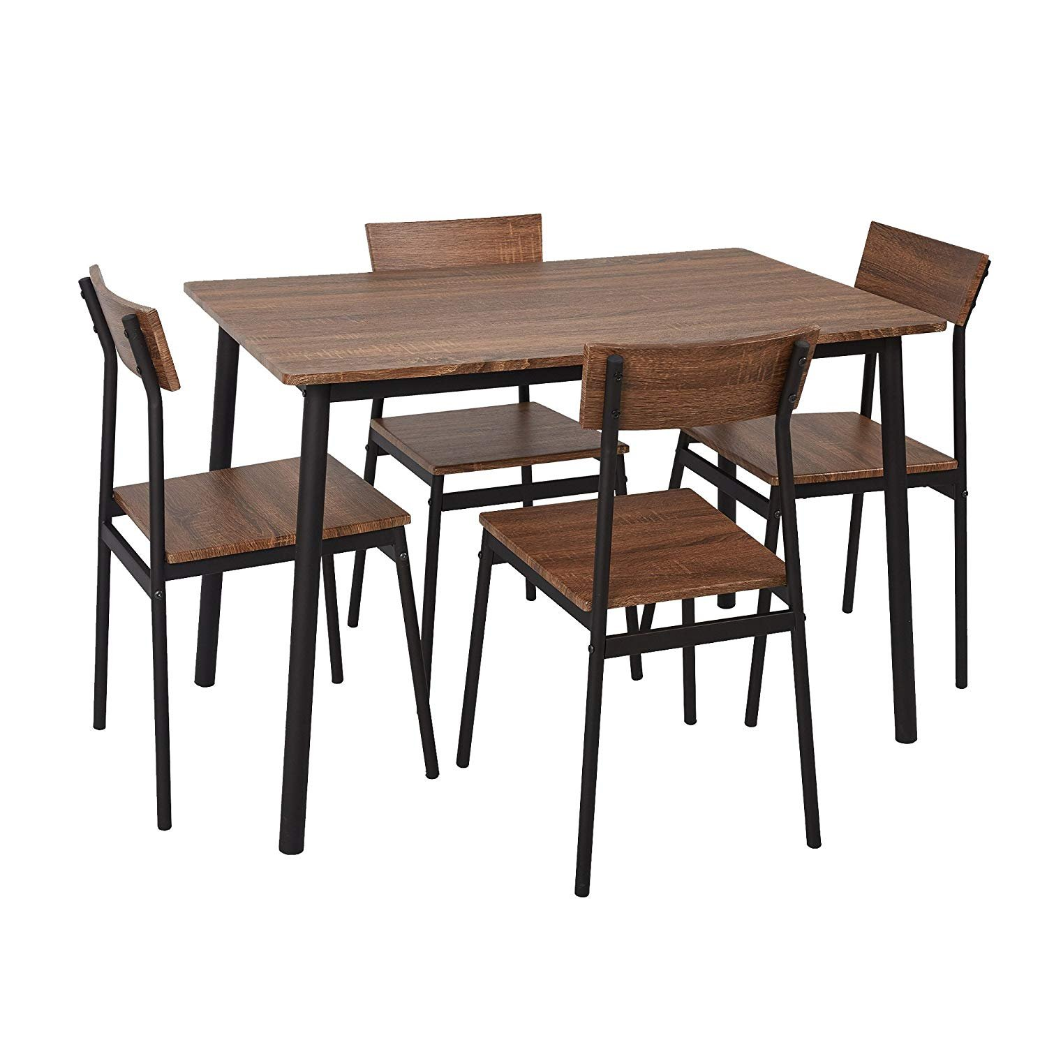 5 Piece Wood Dining Table Set Home