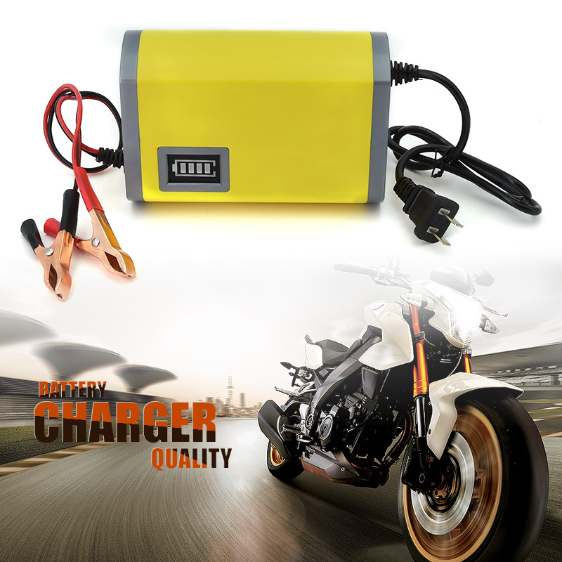 12V 6A Intelligent auto Car Battery Charger Voltage Rechargeable Battery Power Charger for Motorcycle