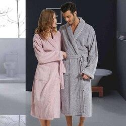 Женский халат, длинная хлопковая теплая ночная рубашка, женское полотенце, халат, утепленный, размера плюс XXL, Осень-зима, пижама, домашняя од...