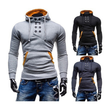 2018 men's new fashion and thick long sleeved hoodies