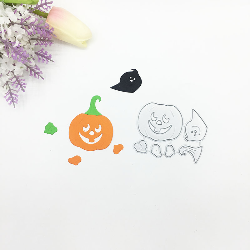 Julyarts 2019New 5Pcs Helloween Pumpkin Metal Cutting Die for Scrapbooking Nouveau Arrivage Die Metal Crafts Gift Die Cut Stitch in Cutting Dies from Home Garden