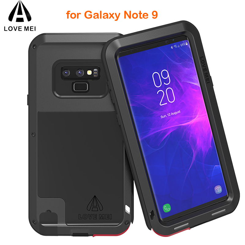 Note9 LOVE MEI Shockproof Life Waterproof Metal Case for SAMSUNG Galaxy Note 9 for Samsung Note 9 phone Case 360 Full protectionNote9 LOVE MEI Shockproof Life Waterproof Metal Case for SAMSUNG Galaxy Note 9 for Samsung Note 9 phone Case 360 Full protection