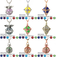 2019 Mexico Chime Angel Wings Cross Vintage Locket Necklace Music Ball Pregnancy For Essential Oil Box Pregnant Jewelry
