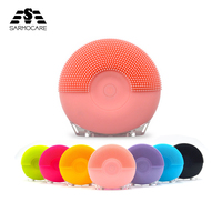 Sarmocare mini electric facial cleanser massage brush for face cleaning cleansing washing silicone ABS cleaner beauty tool