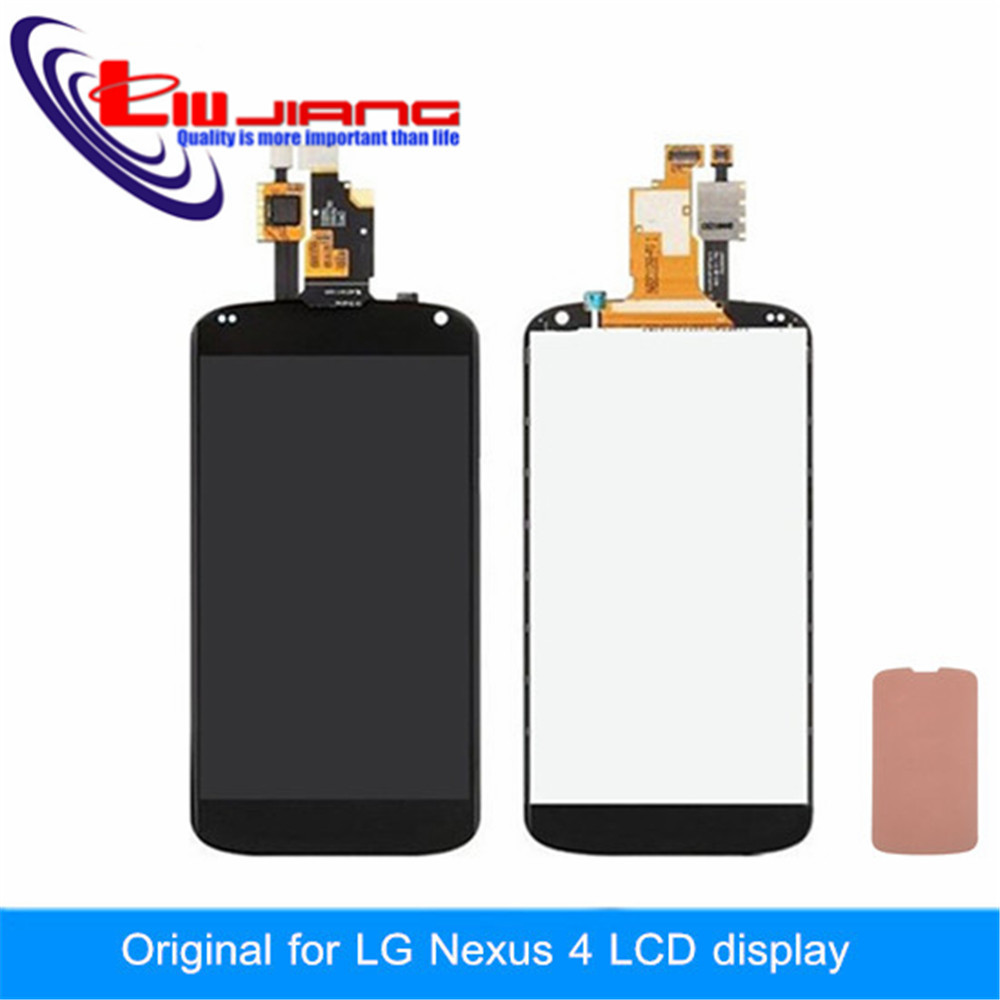 New Original For LG Optimus Google Nexus 4 E960 LCD Display Screen Digitizer Touch Screen Assembly Replacement + stickers new lcd touch screen digitizer with frame assembly for lg google nexus 5 d820 d821 free shipping