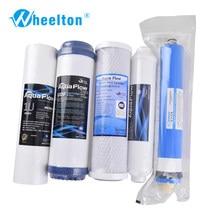 Cartouche de purificateur d'eau certifiée NSF, filtre en 5 étapes, Membrane 75 GPD RO, système d'osmose inverse, filtres à eau, livraison gratuite