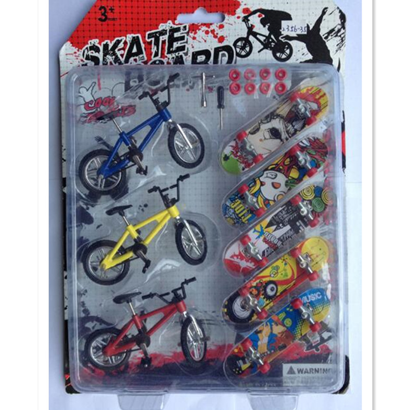 WOWHOT Plastic Bicycle Finger Skateboard Toys