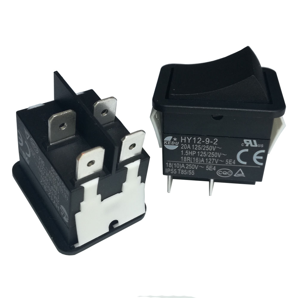 5 PCS High current rocker power switch K/&K 30A//250VAC KCD2 Purple copper 4-PIN