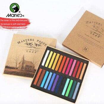 Juego de pinceles de lápices de colores Pastel suaves, crayones de cera, pintura, artículo de papelería para estudiante, suministros de Arte de tiza para el cabello, 12/24/48 colores