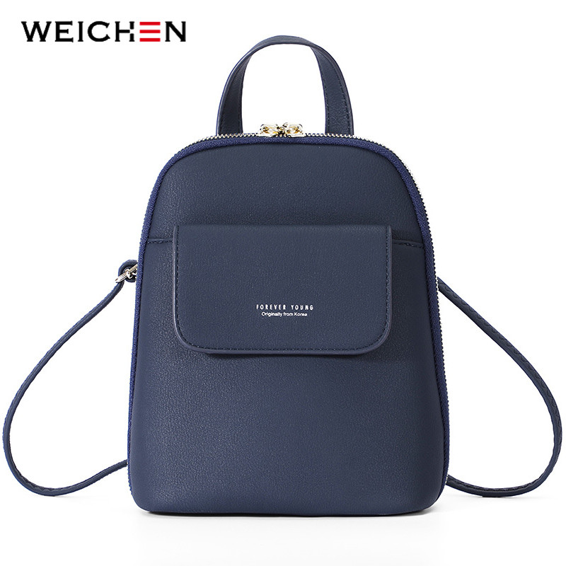 3e3f6880c4 WEICHEN Multi Function Women Backpack Fashion Small Backpack Female Leather  Ladies Shoulder Bag Girl Satchel Mini Mochila Purse-in Backpacks from  Luggage ...