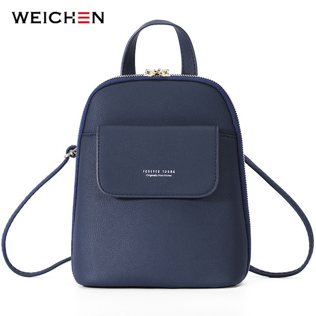 b33711ae56ba WEICHEN Multi-Function Women Small Backpack Female Leather. Add Cart.   19.8. KVKY Women Canvas Handbag Large Capacity Patchwork Tote Bag