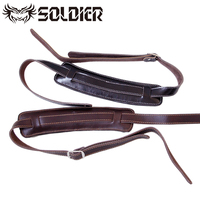 2015 Genuine Leather Electric Thick Guitar Strap Electric Guitar Staps Bass Strap Adjustable Guitar Belt