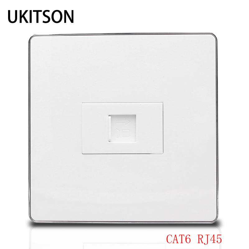 High Quality 1 Port CAT6 RJ45 Network Wall Plate For Gigabit Ethernet Interface