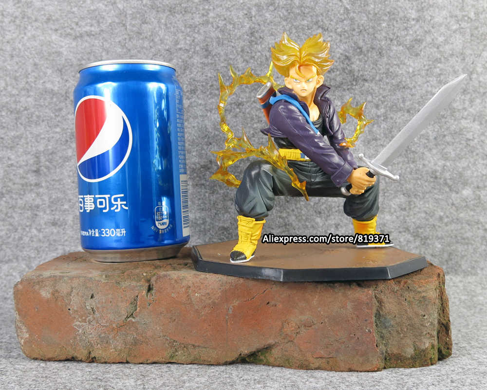 14cm Dragon Ball Z Super Saiyan Torankusu Trunks Battle Version PVC Resin Action Figure Model Figures Collectibles Super Toys