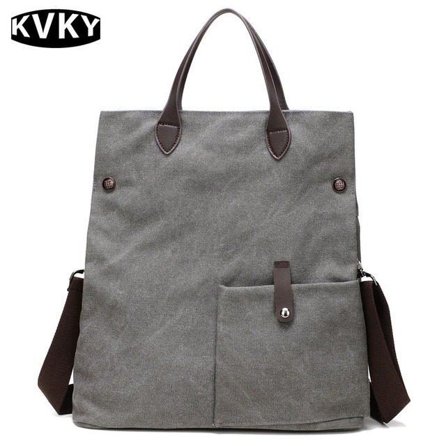53c99347a19a KVKY New Fashion Women Handbag Vintage Canvas Shoulder Beach crossbady Bags  Casual Female Tote Bags Lady Big Shopping Bags-in Shoulder Bags from ...