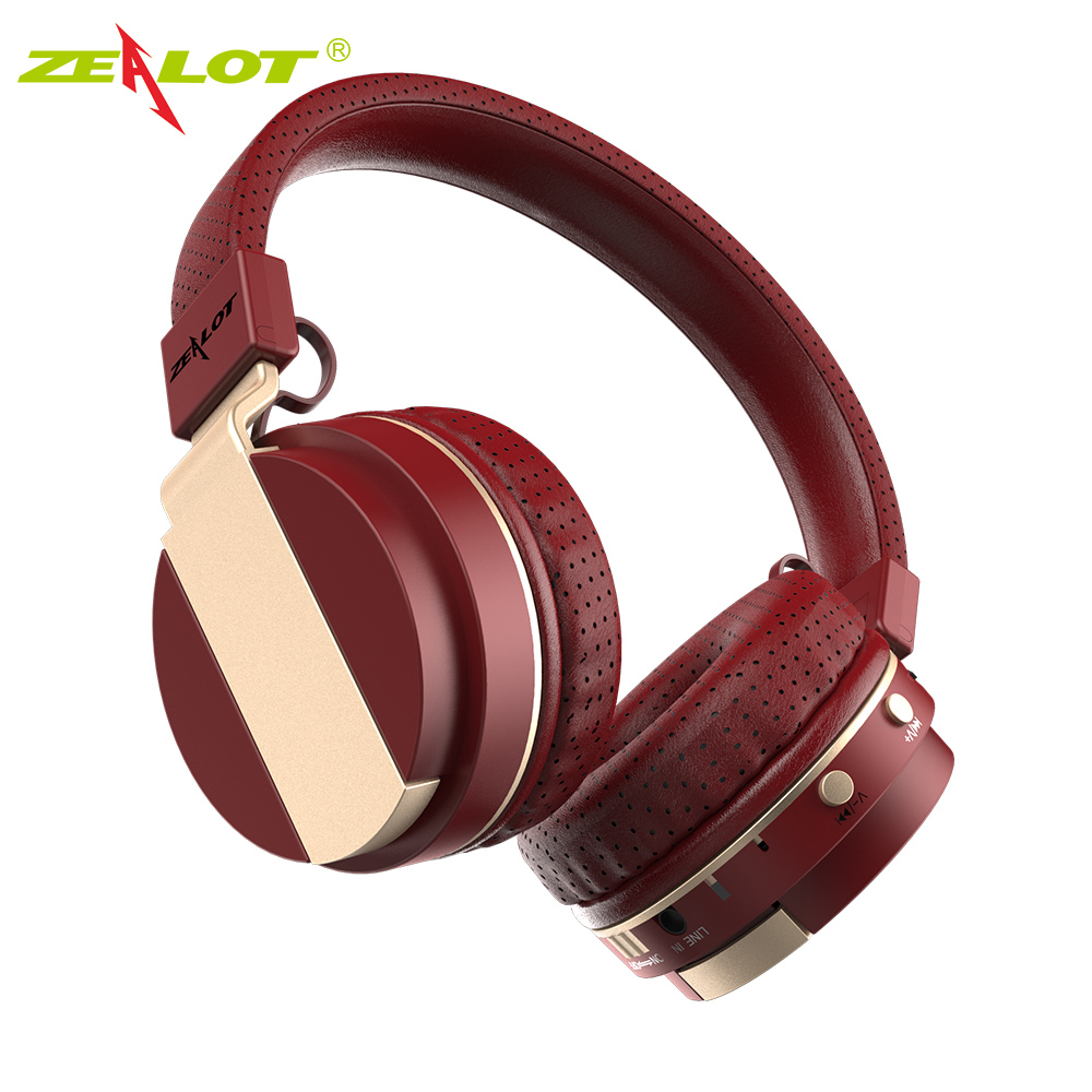 ZEALOT B17 Bluetooth Headphone Noise Cancelling Super Bass Wireless Stereo Headset With Mic Earphone, FM Radio,TF Card Slot short style parka winter cotton down jacket for men korean big size l 4xl slim fit stand collar man casual coat homme grey e374