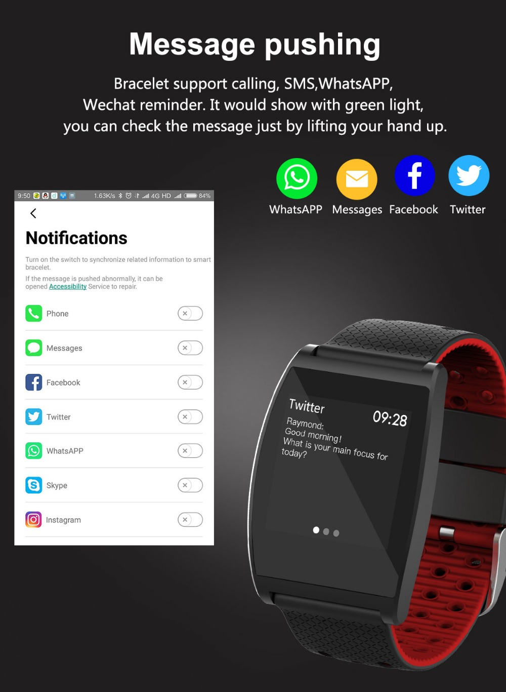 2018 Smart Watch QS05 Wristband With Blood Pressure Blood Oxygen Heart Rate Monitor Sports Activity Tracker Fitness Smartwatch (9)
