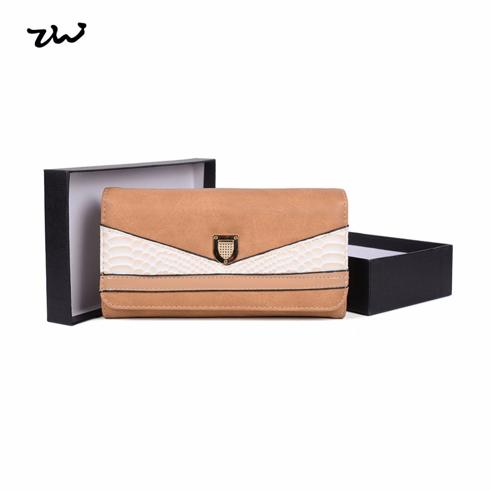 Hec produit chaud 2017 de mode design madame grain long coin portefeuille en cuirchina