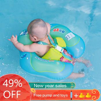 Baby pływanie Ring nadmuchiwane niemowlę pachy pływające dzieci pływać basen akcesoria koło kąpieli nadmuchiwane podwójne tratwy pierścionki zabawka tanie i dobre opinie 3 years old Eco-friendly PVC Ring Float B1013 Swimming baby Kreskówki